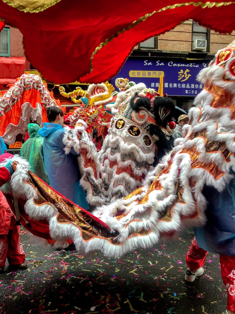 Dancing Dragons, Chinese New Year, NYC