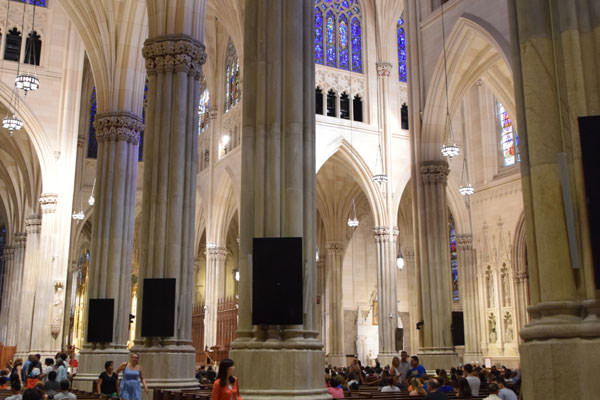 Inside the St Patrick's Cathedral